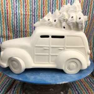 Ceramic Christmas Wagon/Tree Kit