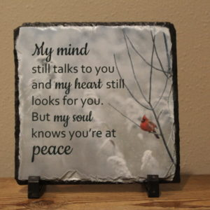 My Mind Sublimated Memorial Slate on shopiowa.com