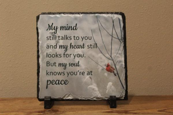 My Mind Sublimated Memorial Slate on shopiowa.com
