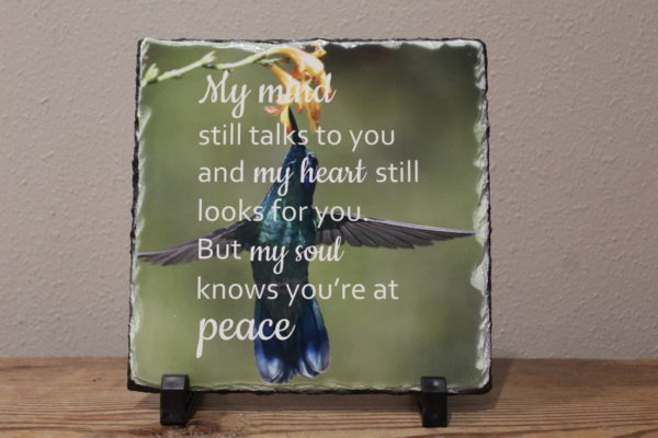 My Mind Sublimated Memorial Slate