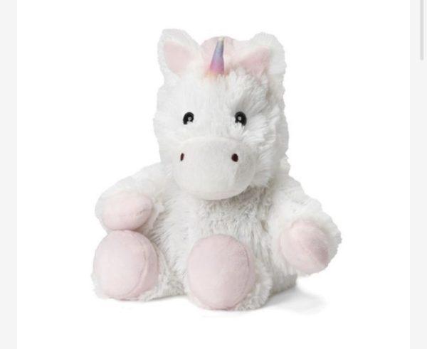 13″ Warmies – White Unicorn