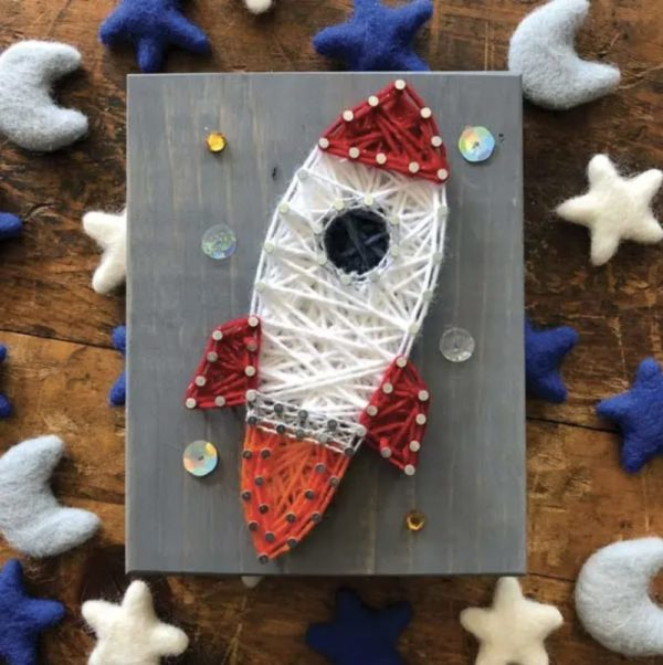 Rocket Mini String Art Kit - DIY