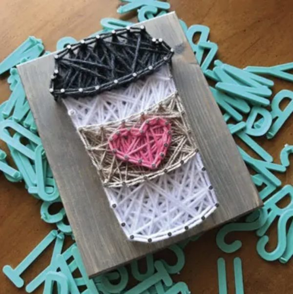 Coffee Mini String Art Kit - DIY