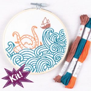 The Kraken! 5″ Embroidery Kit
