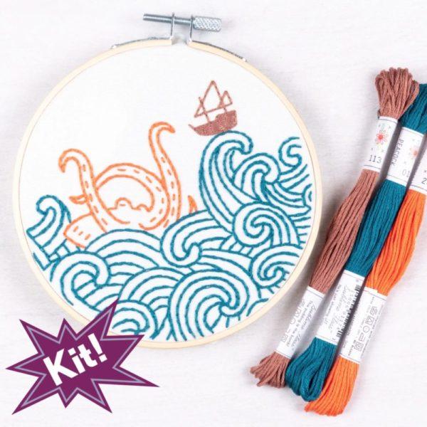 The Kraken! 5 Embroidery kit