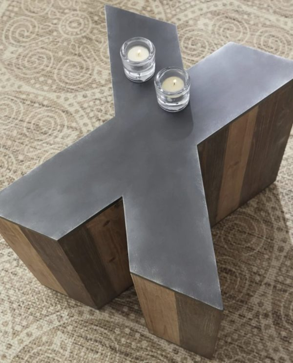 Letter X Accent Side Table