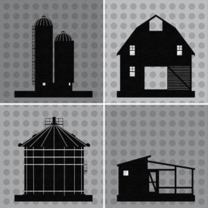 Farm Buildings Canvas Print
