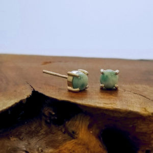larimar and sterling silver post earrings