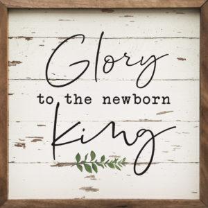 Glory to the King - Kendrick Home Wood Sign on shopiowa.com
