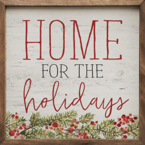 Home for the Holidays - Kendrick Home Wood Sign on shopiowa.com