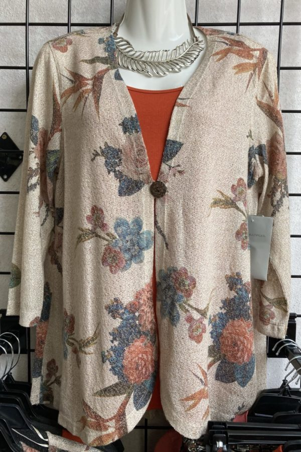 Floral Sweater Jacket