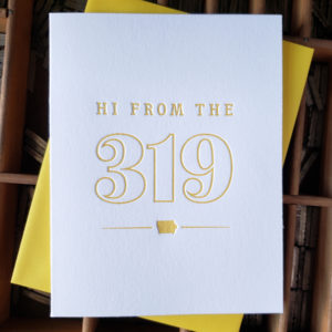 Hi from the 319 Letterpress Greeting Card