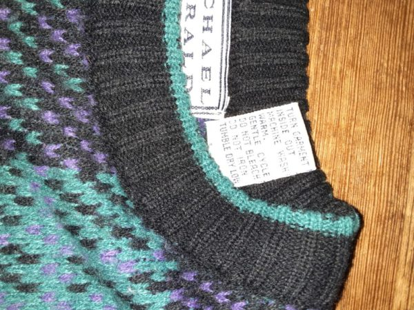 Vintage Michael Gerald Colorful Geometric Oversized Unisex Sweater Size Large