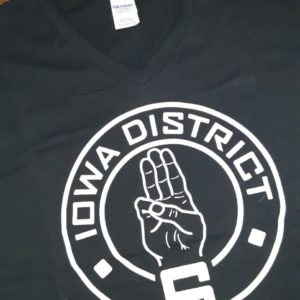 Covid Iowa District 6 Hunger Games Tribute V Neck T-Shirt