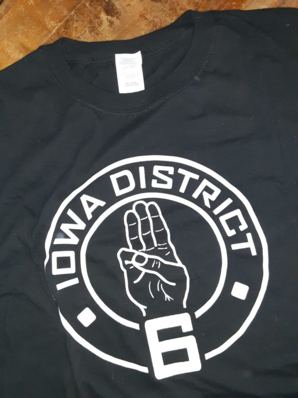 Covid Iowa District 6 Hunger Games Tribute Crew Neck T-Shirt