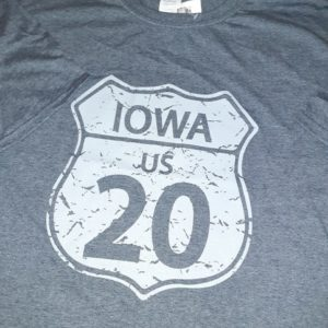 Historic US Route 20 Iowa Crew Neck T-Shirt