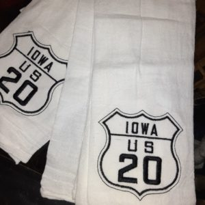 Historic US Route 20 Iowa 100% Cotton Flour Sack Towel