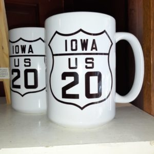 Historic US Route 20 Iowa 15oz. Ceramic Coffee Mug