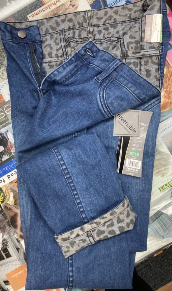 Reversible Jeans with Animal Print