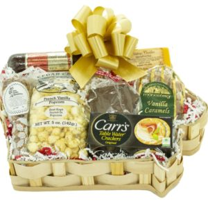 Large Iowa Shaped Gift Basket