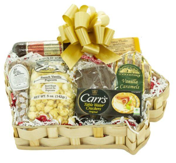 Large Iowa Shaped Gift Basket on shopiowa.com