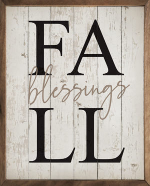 photo of Fall Blessings- Kendrick Home Wood Sign, Fall Sign, Shop Iowa
