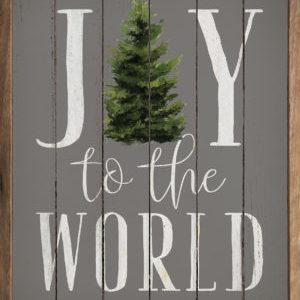 Joy to the World Tree - Kendrick Home Wood Sign