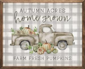 Autumn Acres - Kendrick Home Wood Sign, Fall Sign, Shop Iowa