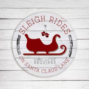 Sleigh Rides - Kendrick Home Wood Sign on shopiowa.com