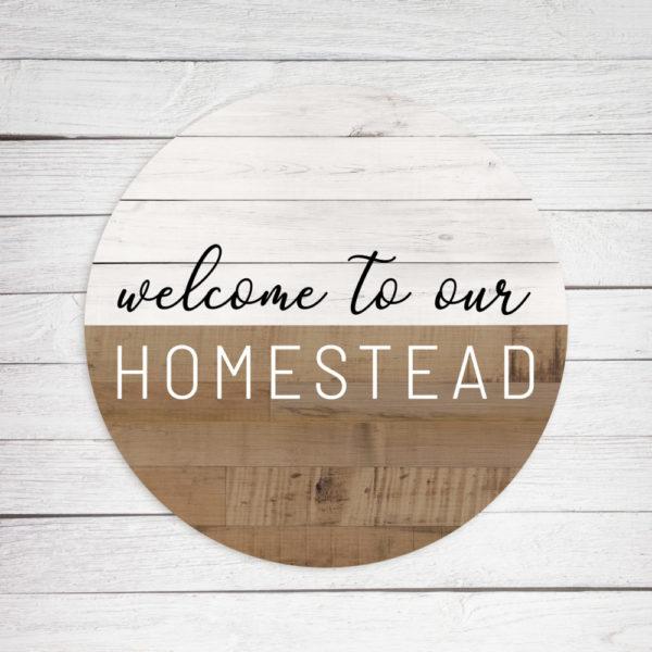 Homestead Circle – Kendrick Home Wood Sign