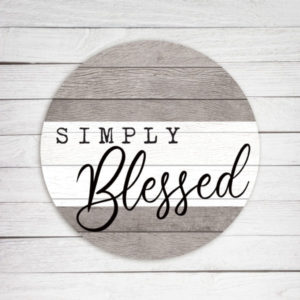 photo of Simply Blessed - Kendrick Home Wood Circle Sign, Shop Iowa