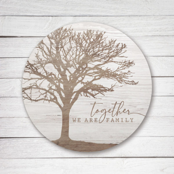 Together We are Family – Kendrick Home Wood Sign