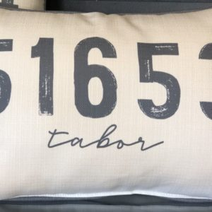 Zip Code Pillows