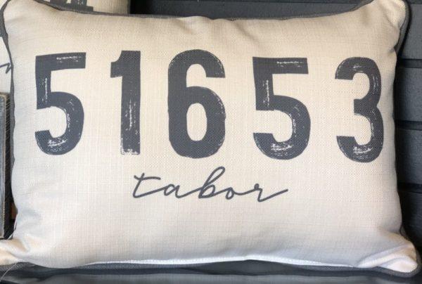 Zip Code Pillows