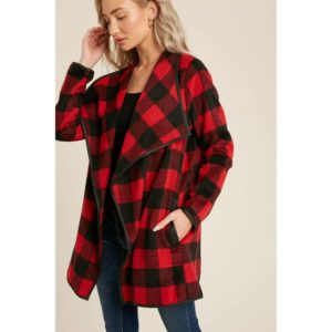 Flannel Flyaway Jacket – Buffalo Check