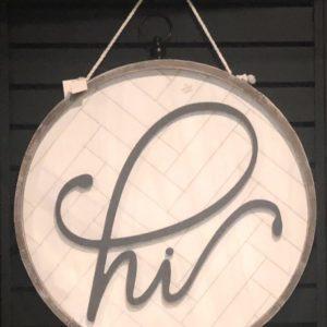 HI Door Sign