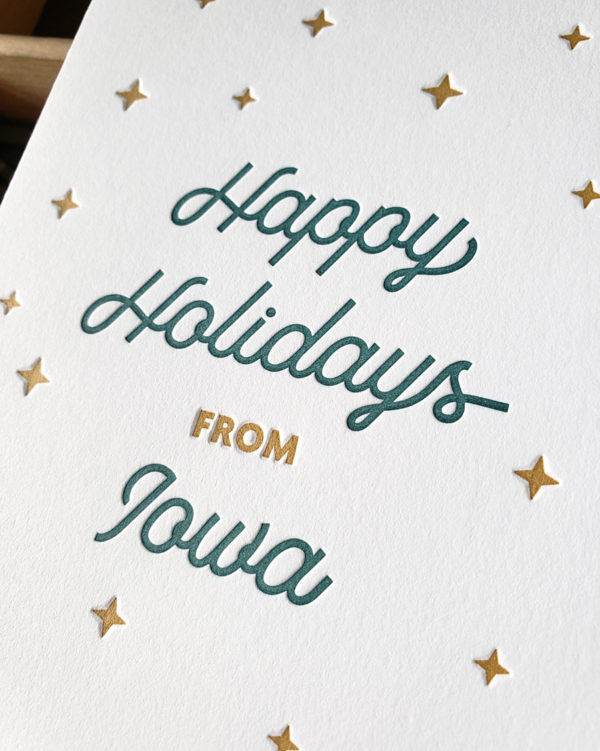 Happy Holidays from Iowa Letterpress Greeting Card