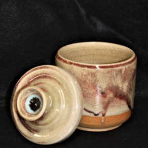Ceramic Pot with Lid by Artist Paul Koch