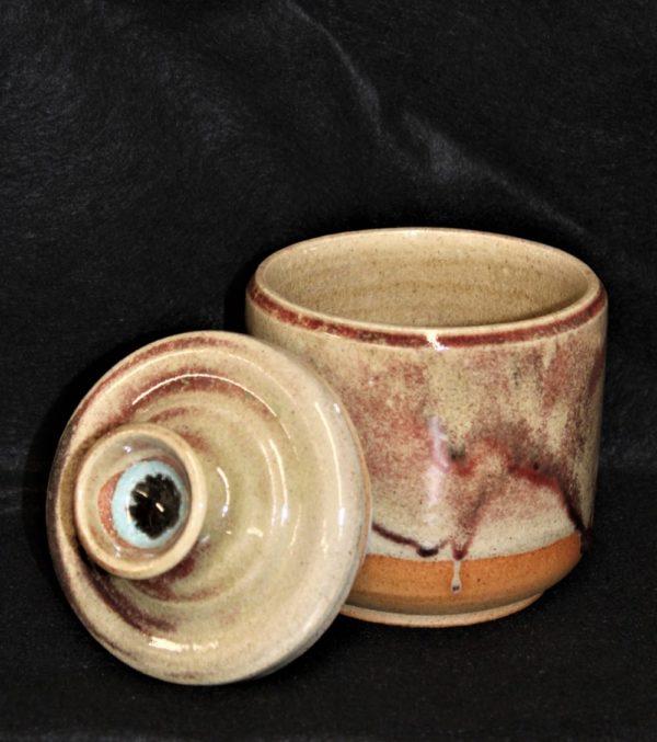 Ceramic Pot with Lid by Artist Paul Koch