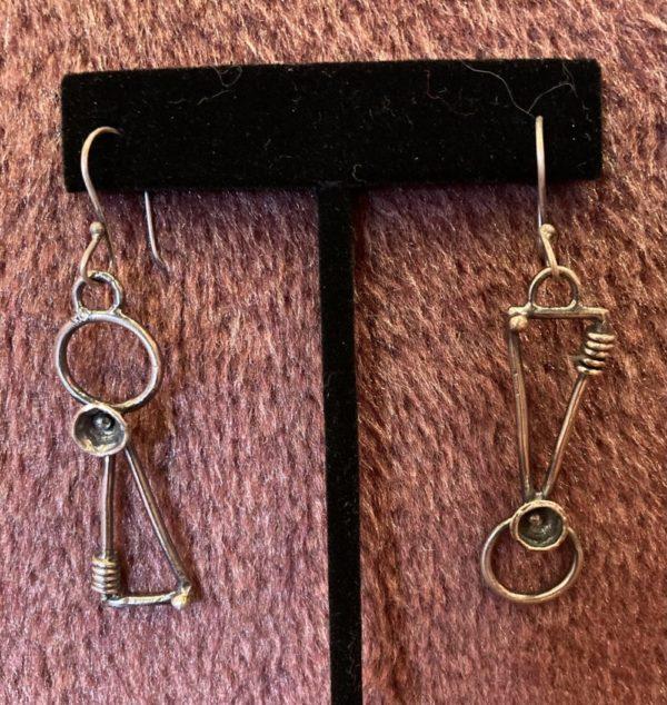 Geo Earrings One of a Kind on shopiowa.com