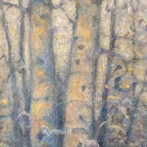 Gray Forest Oil Painting