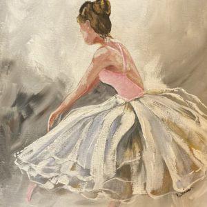 photo of Dancer Original Acrylic Painting