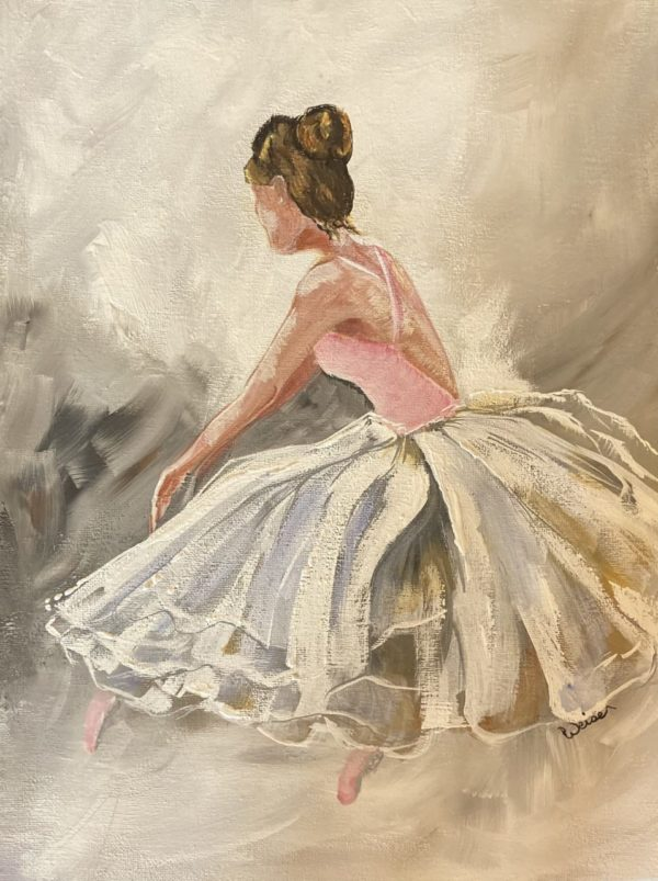 photo of Dancer Original Acrylic Painting