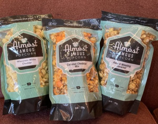 Trio of Almost Famous Popcorn