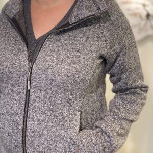 Full-zip Charcoal Grey Jacket (Women's)