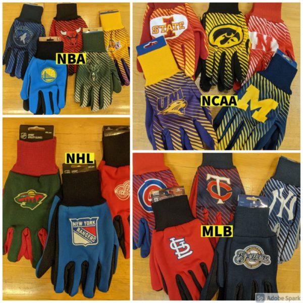 Sport Utility Gloves NCAA, MLB, NHL, NBA