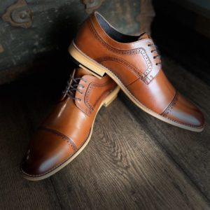 Stacy Adams Cognac Dress Shoe