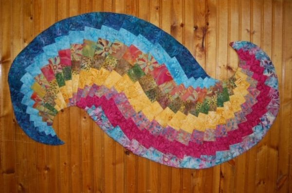 Spiral Table Runner, Handmade, Quilted, Shop Iowa