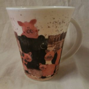 CHURCHILL Fine Bone China – PIG FAMILY Coffee Mug Cup