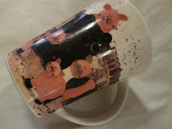 CHURCHILL Fine Bone China – PIG FAMILY Coffee Mug Cup